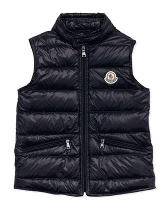 Gui Lightweight Puffer Vest, Navy, Sizes 8-10