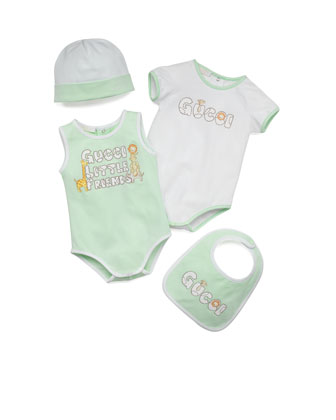Baby Girl 4-Piece Gift Set, Green