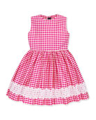 Girls' Gingham Party Dress, 2Y-10Y
