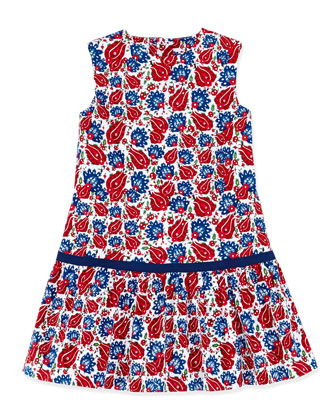 Ornamental Sao Paolo Dress, Navy