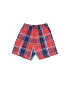 Baby Boys' Cotton-Plaid Shorts, Navy, 12-24 Months