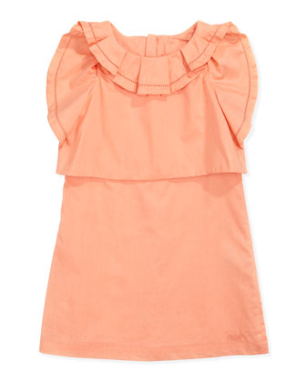 Ruffle-Detail Tiered Dress, Sizes 6-10