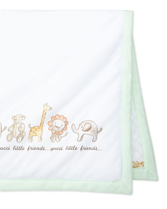 Little Friends Cotton Baby Blanket, Multi