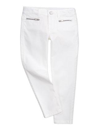 Skinny White Jeans, Girls' 4Y-10Y