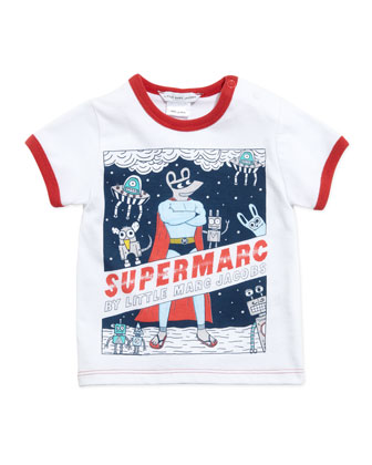 Supermarc Short-Sleeve Ringer Tee & Stretch-Cotton Mouse-Pocket Shorts, ...