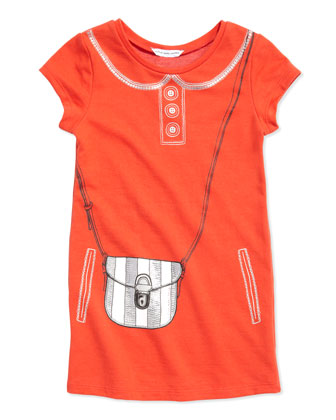 Trompe l'Oeil Purse T-Shirt Dress, Sizes 2-5