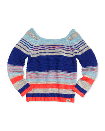 Metallic Knit Sweater, Multi, Sizes 2-5