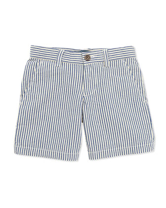 Preppy Seersucker Shorts, Blue, Boys' 4-7