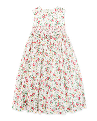 Smocked Floral Dress, Girls' 4-6x