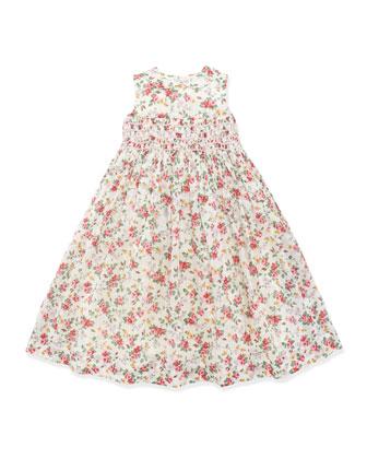 Smocked Floral Dress, 2T-3T