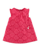 Sleeveless Eyelet Dress, Fuchsia, 1m-18m