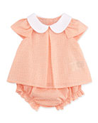 Allover Zucca-Print Two-Piece Set, Coral, 3-9 Months