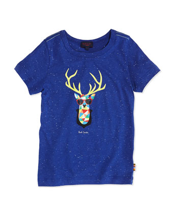 Boys' Deer-Head-Print Tee, Sizes 8-10