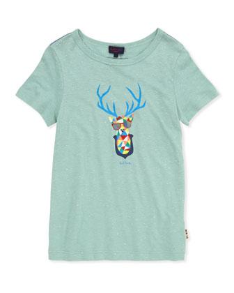Toddler Boys' Deer-Head-Print Tee, Sizes 2-6