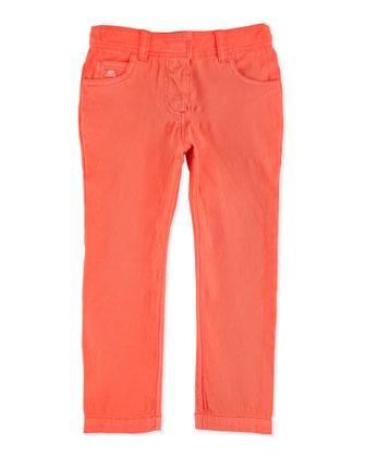 Slim-Fit Girls' Pants, Papaye, 2Y-6Y