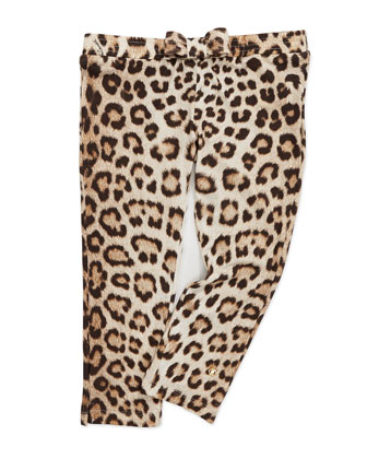 Leopard-Print Leggings with Bow, 8-10