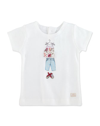 Lauraine Short-Sleeve Graphic Tee, 3-18 Months