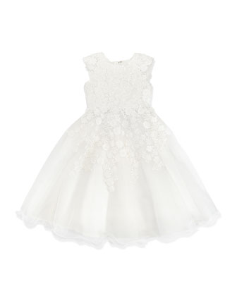 Satin/Tulle Daisy Lace Dress, 4-10