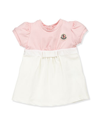 Completo Colorblock Dress, Pink/Cream, 3-24 Months