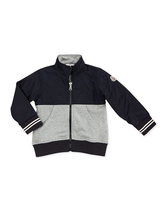 Maglia Jersey & Nylon Jacket, Black/Gray, Boys' 2T-6