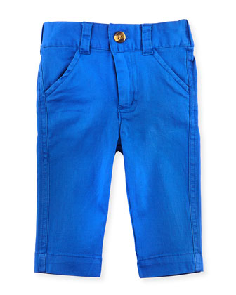 Oh-What-A-Twill Dress Pants, Cobalt Blue, 3-24 Months
