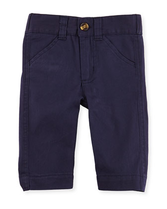 Oh-What-A-Twill: Dress Pants, Navy, 3-24 Months