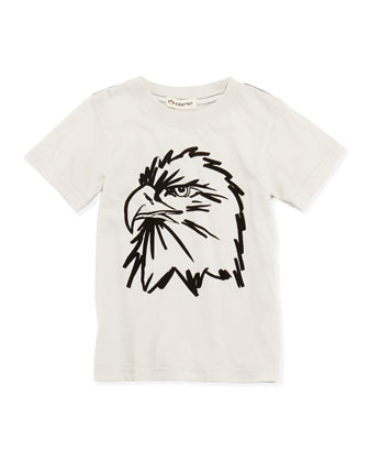 Eagle-Print Jersey Tee, White, Boys' 2T-10