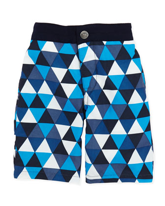 Riis Swim Trunks, Blue Multi, Boys' 2T-10