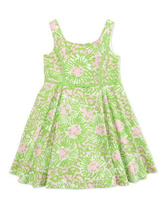 Mini Gosling Printed Dress, Multi, Sizes 2-10