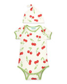 Cherry Pick One-Piece Pajamas & Hat, 3-14 Months