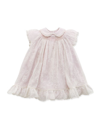 Smocked Flutter Dress, Pink, 9-24 Months