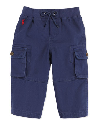 Woven Pull-On Pants, Blue, 9-24 Months