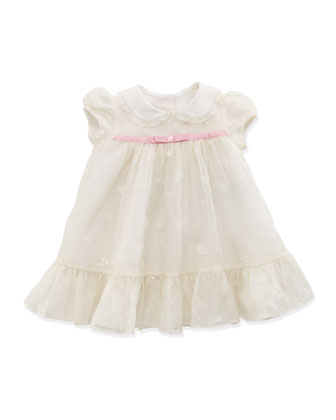 Baby Embroidered Organza Dress, 3-12 Months