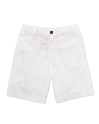 Reece Striped Camp Shirt & Alex Flat-Front Shorts, 2Y-10Y