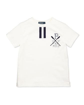 Short-Sleeve Polo Tee, White, Boys' 2T-3T