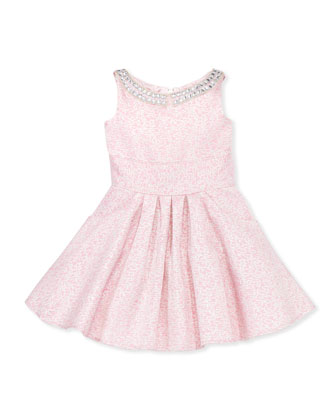 Divine Design Brocade Party Dress, Sizes 8-10