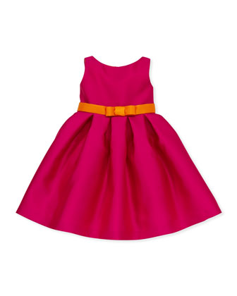 Elle Box-Pleat Party Dress, Sizes 8-10
