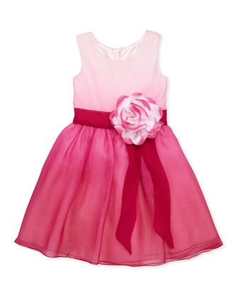 Pretty in Pink Ombre Chiffon Dress, Sizes 8-10
