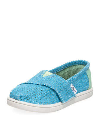 Freetown Two-Tone Mesh Slip-On, Blue, Tiny