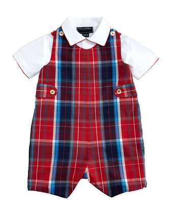Plaid Jumper & Shirt Set, 12-24 Months
