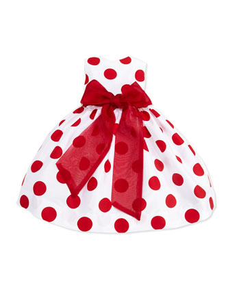Large-Polka-Dot Party Dress, Girls' 4-6X