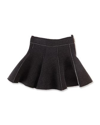 Tweed Sport Skirt, Black/White, Girls' 8-12