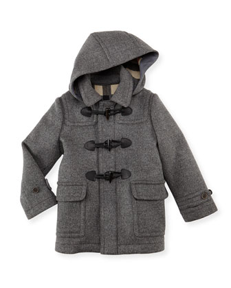 Boys' Wool Hooded Coat, Knit Elbow-Patch Sweater & Linen-Cotton Pants
