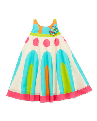 Geometric-Print Circle Dress, Multi, Girls' 4-6X