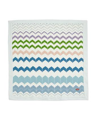 Zigzag Knit Baby Blanket