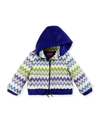 Zigzag Puffer Coat, Multi, Girls' Sizes 2-10