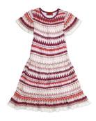 Zigzag Knit Drop-Waist Dress, Girls' Sizes 2-10