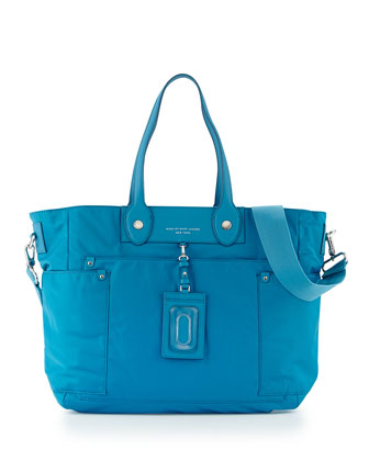 Preppy Nylon Eliz-A-Baby Diaper Bag, Blue