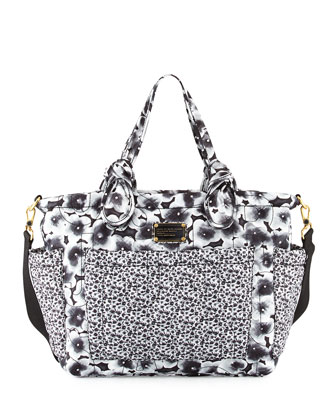 Pretty Nylon Ali Floral Eliza Baby Bag, Lead (Gray)/Multi