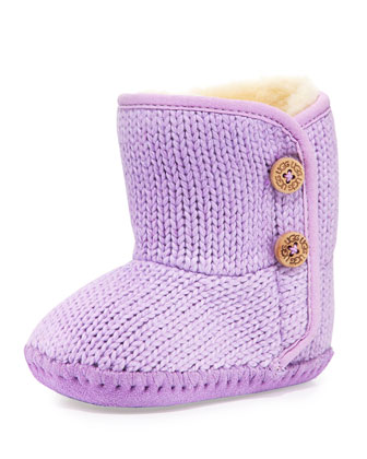 Infant Purl Bootie, Lilac